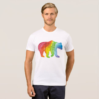 Papa Bear Watercolor Family Pride Tee