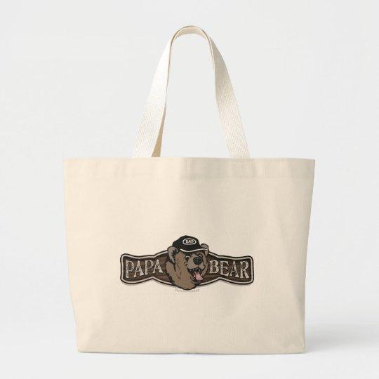 Papa Bear Wear Logo Large Tote Bag