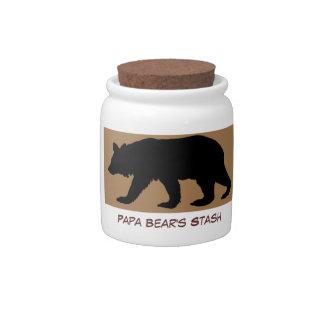 Papa Bear's Stash: Candy Jar for Dad or Papa