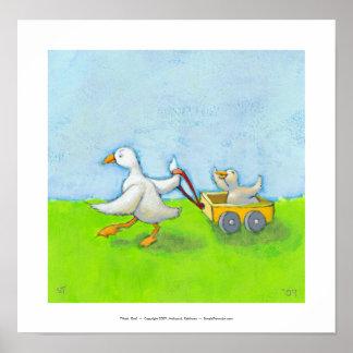 Papá - bebé del pato del papá del padre en arte li impresiones