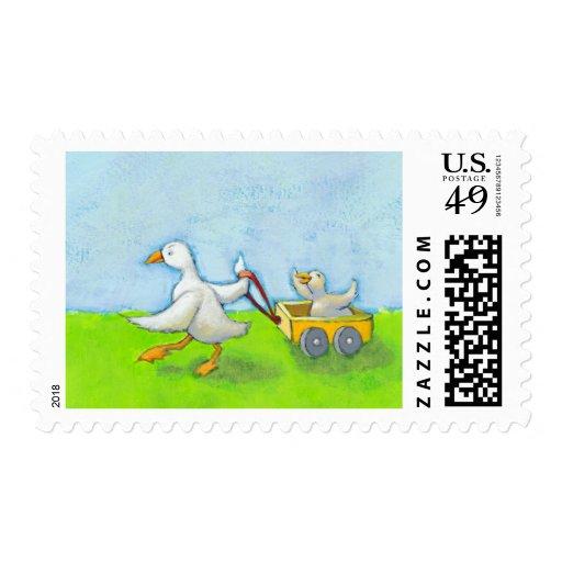 Papá - bebé del pato del papá del padre en arte sellos