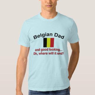 Papá belga apuesto poleras