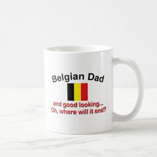 Papá belga apuesto taza