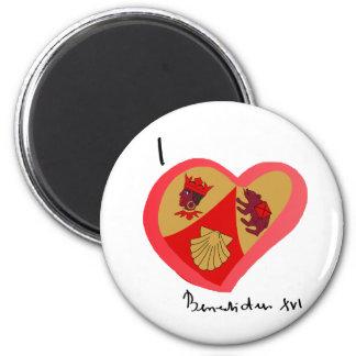 Papa Benedetto nel cuore 2 Inch Round Magnet