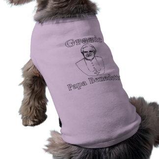 Papa Benedicto de Grazie Camisa De Mascota