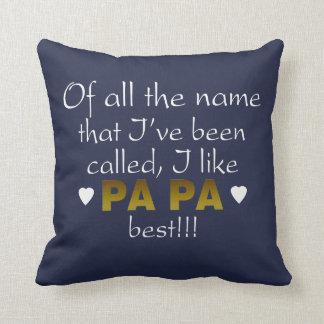 PAPA BEST THROW PILLOW