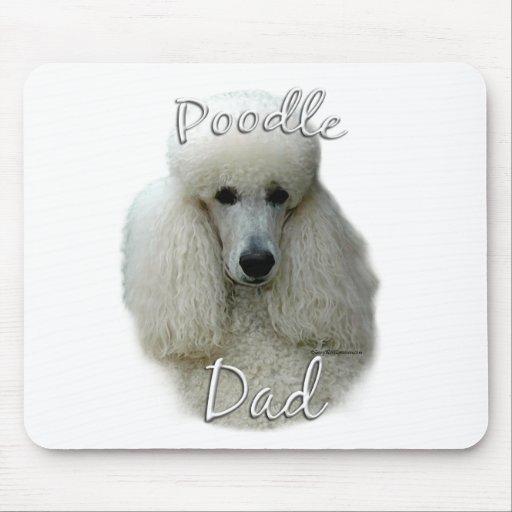 Papá (blanco) 2 del caniche mousepad
