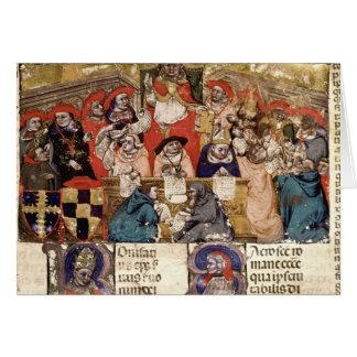Papa Bonifacio VIII que preside a Tarjeta De Felicitación