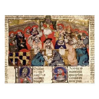 Papa Bonifacio VIII que preside a Postal
