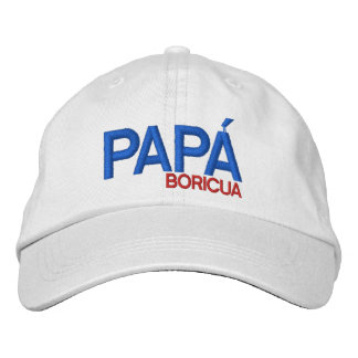Papá Boricua de Puerto Rico Gorra De Beisbol Bordada