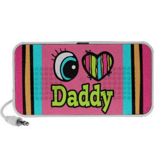 Papá brillante del amor del corazón I del ojo Notebook Altavoz