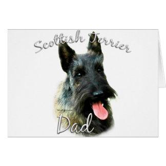Papá (brindle) 2 de Terrier del escocés Tarjeta De Felicitación