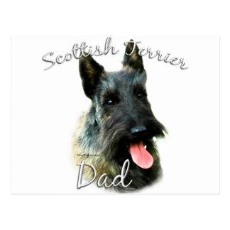 Papá (brindle) 2 de Terrier del escocés Tarjetas Postales
