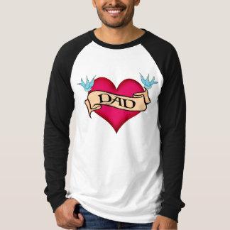 Papá - camisetas y regalos de encargo del tatuaje playera