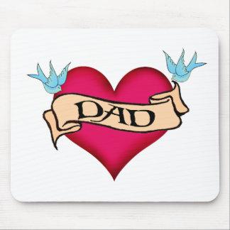 Papá - camisetas y regalos de encargo del tatuaje alfombrilla de raton