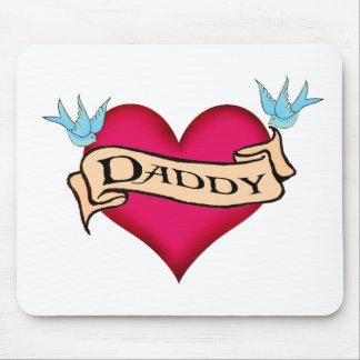 Papá - camisetas y regalos de encargo del tatuaje alfombrillas de ratón