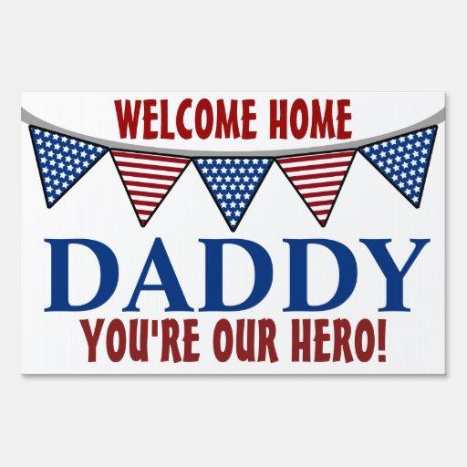 Papá casero agradable de los militares letrero