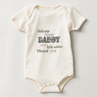 """Papá casero agradable - """"pequeño soldado """" body para bebé"""