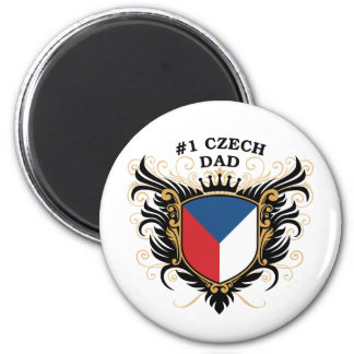 Papá checo del número uno iman