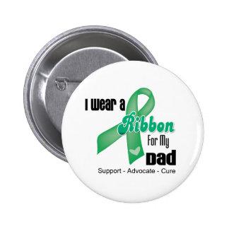 Papá - cinta del cáncer de hígado pin redondo de 2 pulgadas