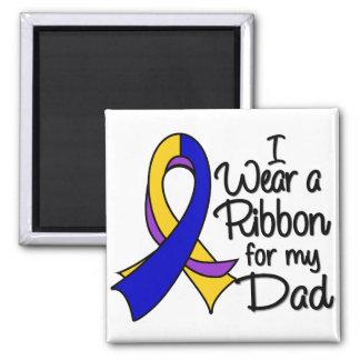 Papá - cinta del cáncer de vejiga imán cuadrado
