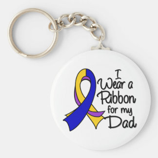 Papá - cinta del cáncer de vejiga llavero redondo tipo pin