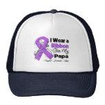 Papá - cinta del cáncer pancreático gorros bordados