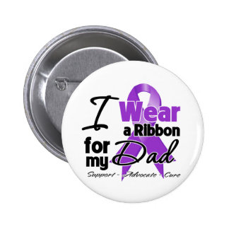 Papá - cinta del cáncer pancreático pin redondo de 2 pulgadas