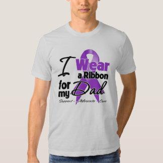 Papá - cinta del cáncer pancreático remeras