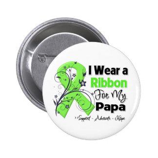 Papá - cinta del linfoma pin redondo de 2 pulgadas