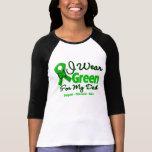 Papá - cinta verde de la conciencia camisetas