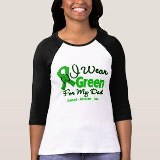 Papá - cinta verde de la conciencia t shirts