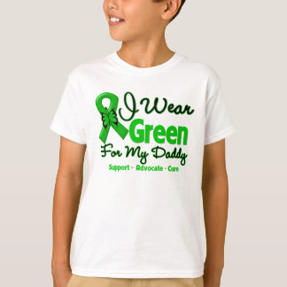 Papá - cinta verde de la conciencia remeras