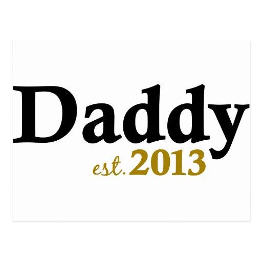 Papá clásico Est 2013 Tarjetas Postales