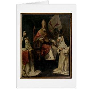 Papa Clemente VIII que bendice a las monjas carmel Tarjetón