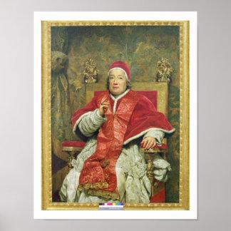 Papa Clemente XIII (1693-1769) (aceite en lona) Póster