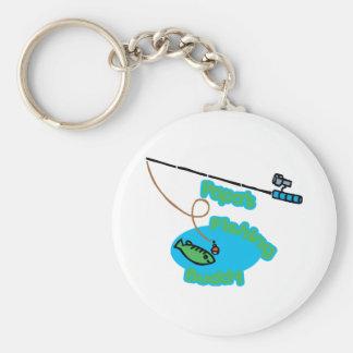 Papa' compinche de la pesca de s llaveros personalizados