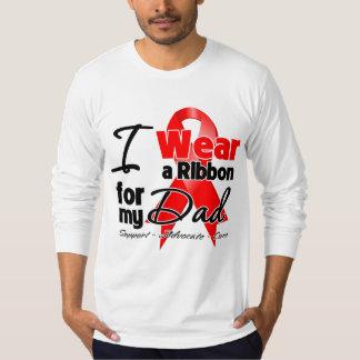 Papá - conciencia roja de la cinta remera