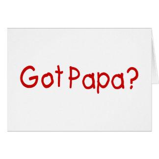 Papá conseguida (roja) tarjeta de felicitación