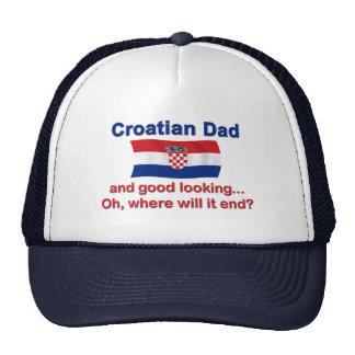 Papá croata apuesto gorras