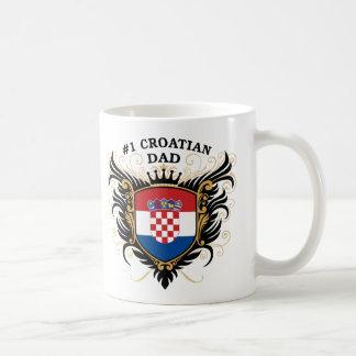 Papá croata del número uno taza