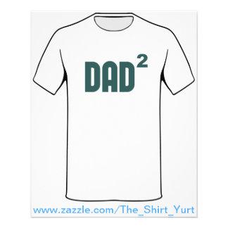 Papá Dad2 ajustado exponencial Tarjetas Publicitarias