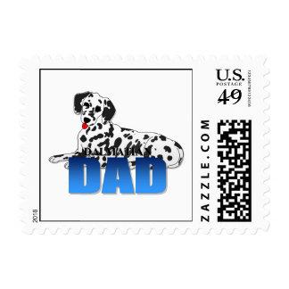 Papá dálmata del perro sello