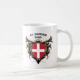 Papá danés del número uno taza