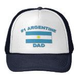 Papá de #1 Argentina Gorros Bordados