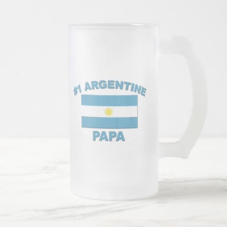 Papá de #1 Argentina Jarra De Cerveza Esmerilada