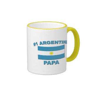 Papá de #1 Argentina Taza De Dos Colores
