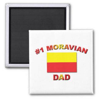 Papá de #1 Moravian Imán Cuadrado