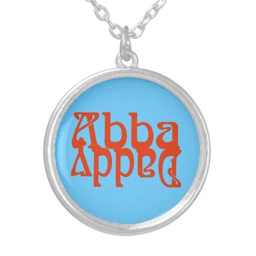 Papá de Abba (dios del padre) Colgante Redondo