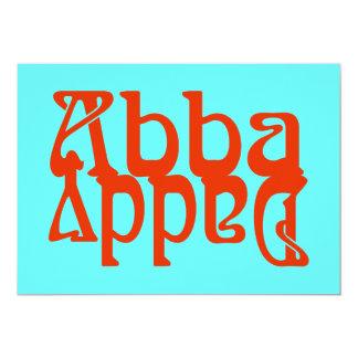 """Papá de Abba (dios del padre) Invitación 5"""" X 7"""""""